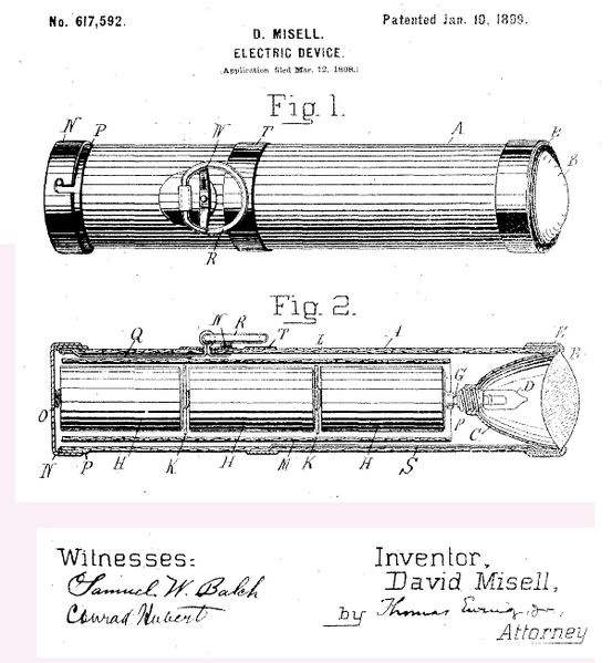 This patent document is a milestone in flashlight history