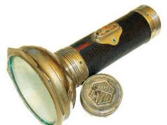 An old flashlight