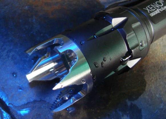 The Xeno ST02 strike bezel upgrades the capabilities of a flashlight for self defense