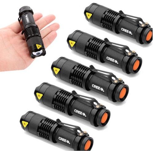 Six pack of flashlights