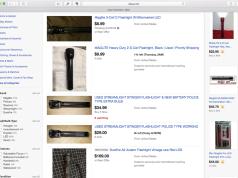 Buying a used flashlight