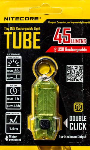 Nitecore Tube packaging