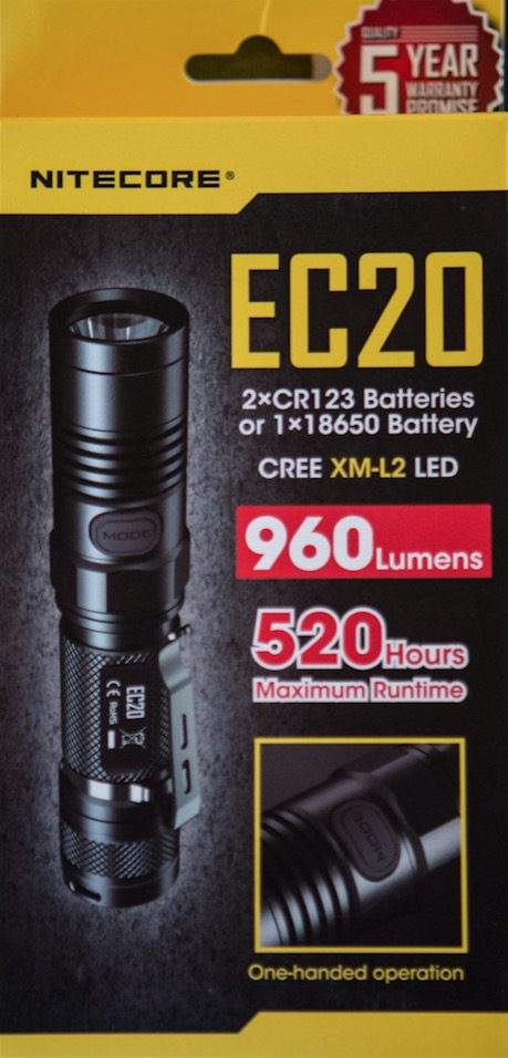 Nitecore EC20 18650 flashlight